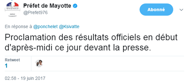 Prefet mayotte legislatives