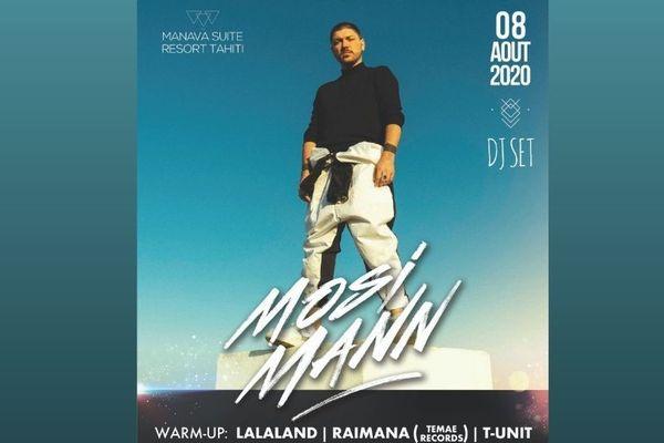 Le DJ MOSIMANN le 8 août à Tahiti