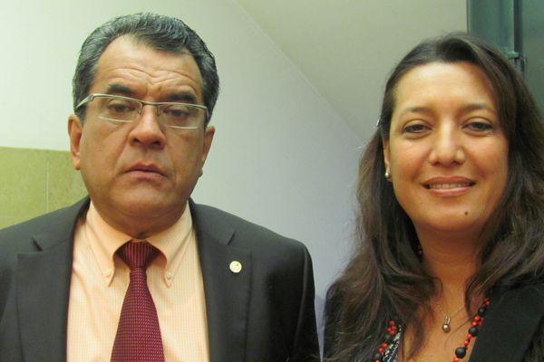 Edouard Fritch, président de la Polynésie française et Maina Sage, député de la Polynésie