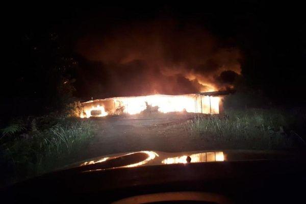 incendie Kouaoua lotissement SLN