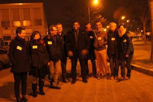 Camille Galap et son équipe de militants