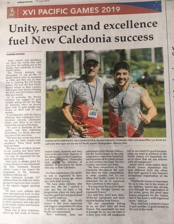 Jeux du Pacifique Apia Presse Samoa