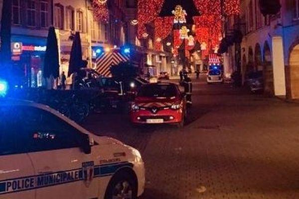 Le centre-ville de Strasbourg est bouclé mardi 11 décembre 2018 après une fusillade.