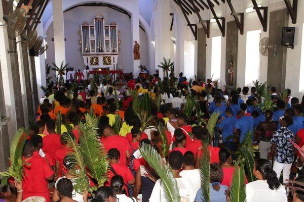 Messe des Rameaux à Vieux-Habitants