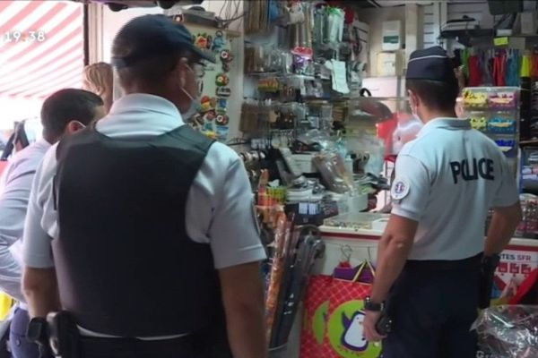 Contrôles de police anti-covid