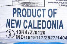 Sac contenant du nickel (NHC-MHP) produit par l'Usine du Sud (Prony Resources) en Nouvelle-Calédonie