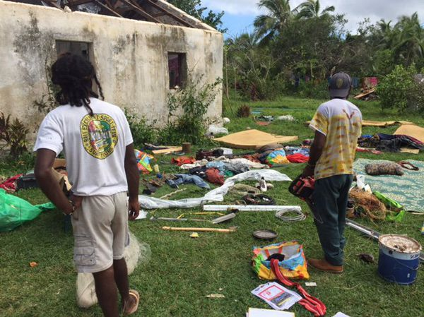 Photo dégâts cyclone Donna Lifou (mai 2017)