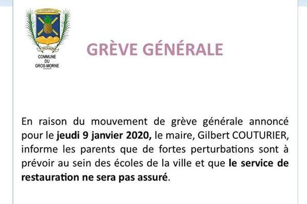 Grève générale 8 janvier 2020