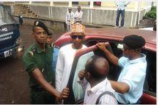 Abdallah Agwa conduit au tribunal de Moroni