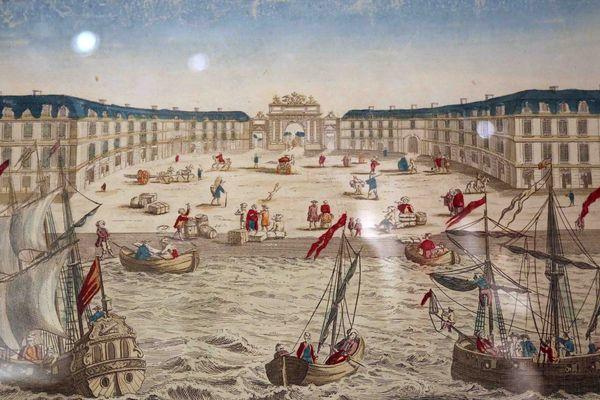 Gravure présentée au Musée d'Aquitaine