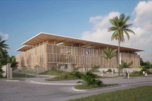 Le projet architectural de l'hôtel de police de Cayenne