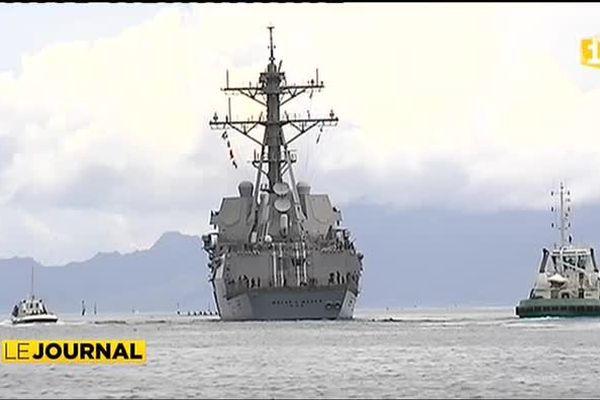 La marine américaine accueillie froidement par un capitaine de pilotine