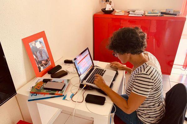 Caroline Bablin, rédactrice en chef de France-Antilles Guadeloupe.