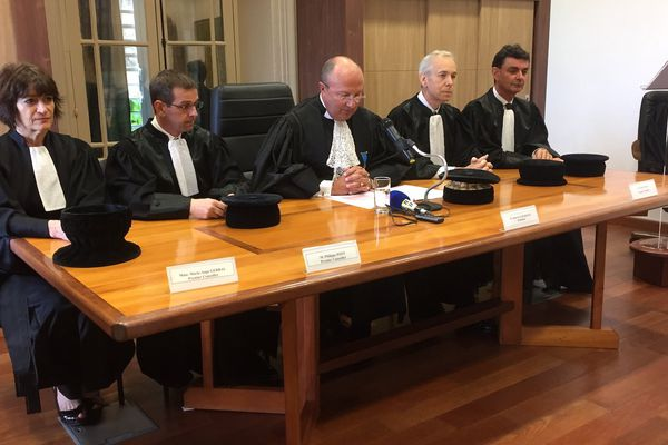 Séance solennelle chambre territoriale des comptes CTCNC magistrats 3 août 2017