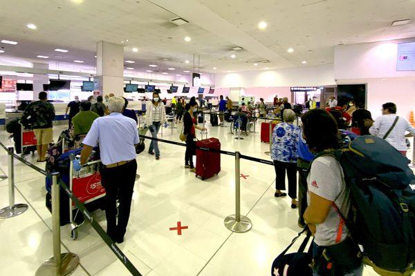Calédoniens rapatriés à l'aéroport de Sydney