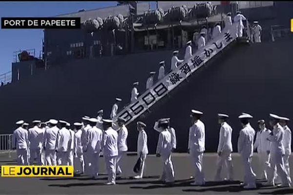 Petite visite des 3 navires de guerre japonais en escale à Tahiti