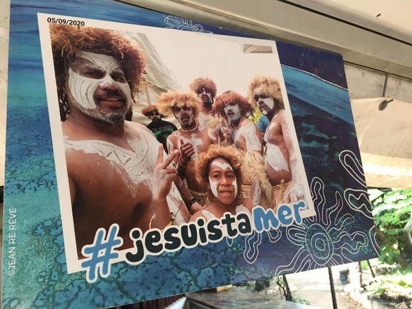 Journée mondiale de l'océan / des océans, île aux Canards, 6 juin 2021, un des selfies participant à la campagne #jesuistamer.