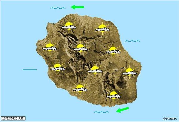 Carte météo 13 février 2020