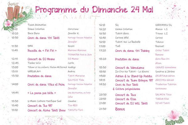 E-festival polynésienn programme 2