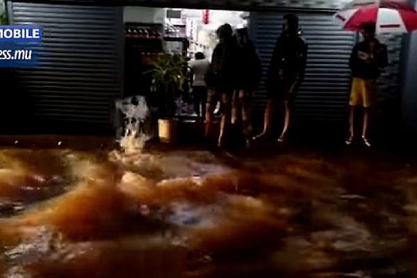 inondation à Maurice le mardi 9 avril 2019