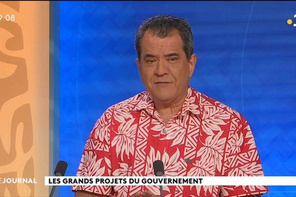 Le Président du Pays : Edouard Fritch, était l'invité du journal de Polynésie la 1ère
