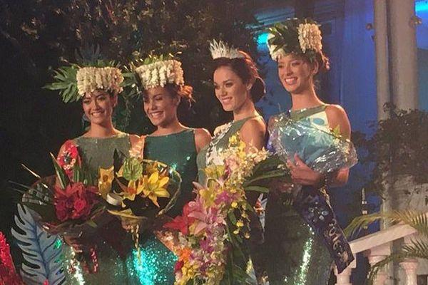 Vaea Ferrand Miss Tahiti 2016 et ses dauphines