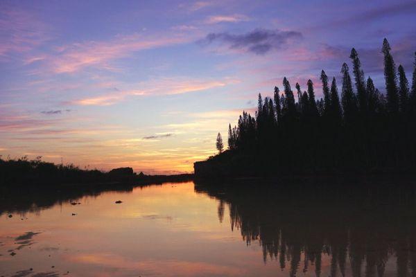 ile des pins coucher de soleil