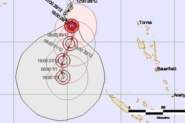 Trajectoire du cyclone FREDA
