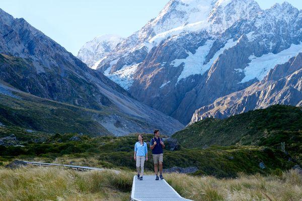Paysage de Nouvelle-Zélande libre de droit, Aoraki mont Cook.