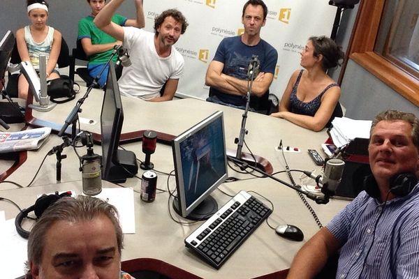 La Compagnie du Caméléon, invitée du Grand Huit sur Polynésie 1ère radio, 27 08 14