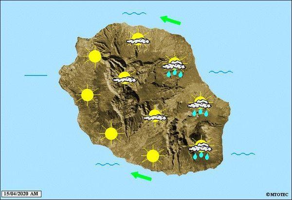 Carte météo 15 mars 2020