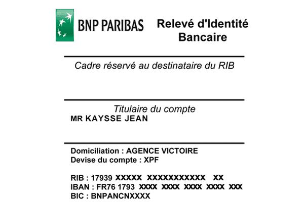 RIB SEPA BNP NC