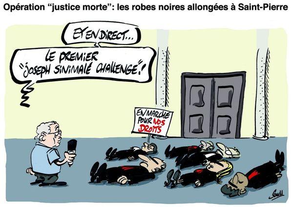 Le dessin de Souch : Justice morte
