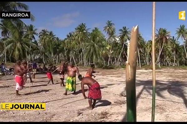 Les jeux de sports traditionnels battent leur plein à Rangiroa