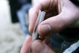 tabac dans une cigarette à rouler