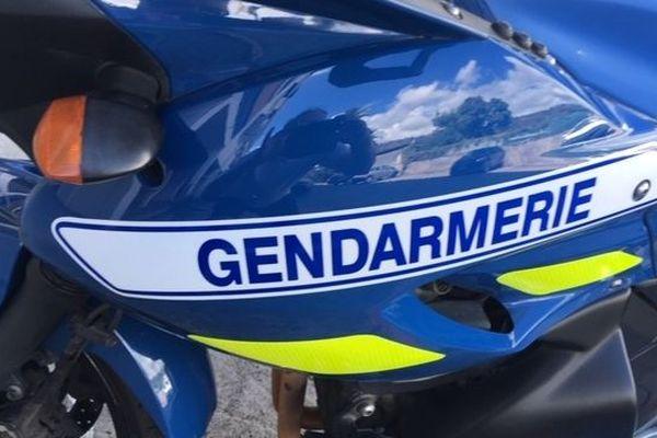 Moto de la gendarmerie