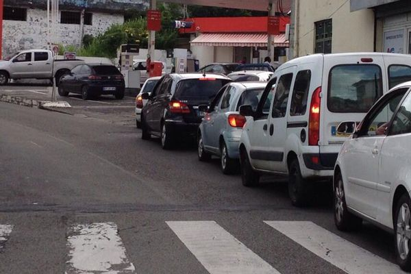 File d'attente voitures