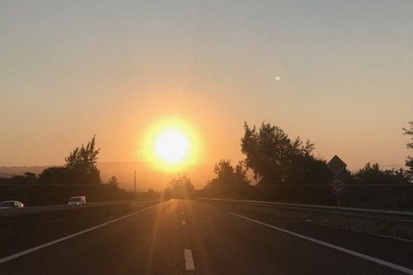 Lever du soleil dans le Sud Sept 2017