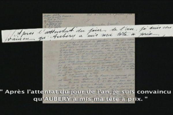 Lettre de André Aliker à son frère Pierre