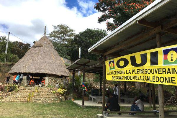 Référendum 2020, campagne pour le Oui à la tribu de Bouirou, à Bourail