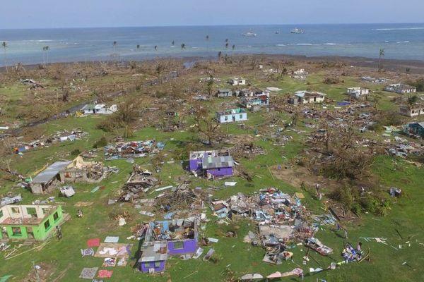Le cyclone Winston a causé d'importants dégâts matériels dans l'île de Koro.