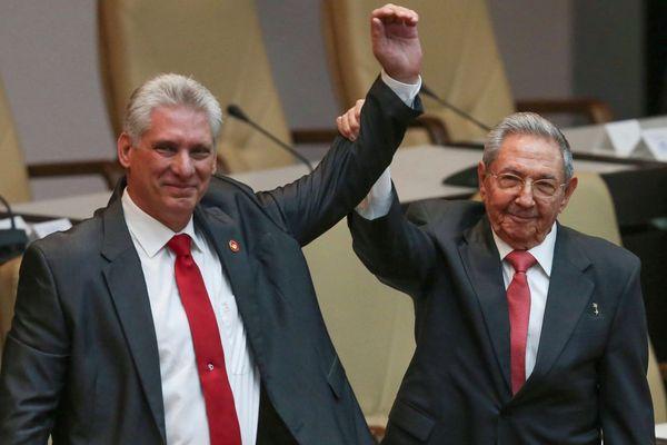 Miguel Diaz-Canel et Raul Castro