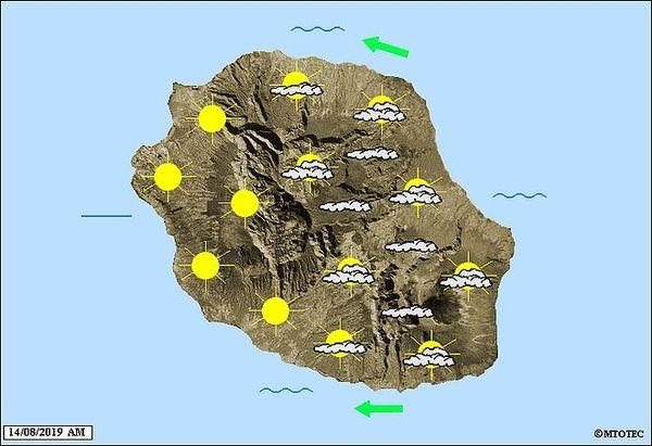 Carte météo 14 août 2019