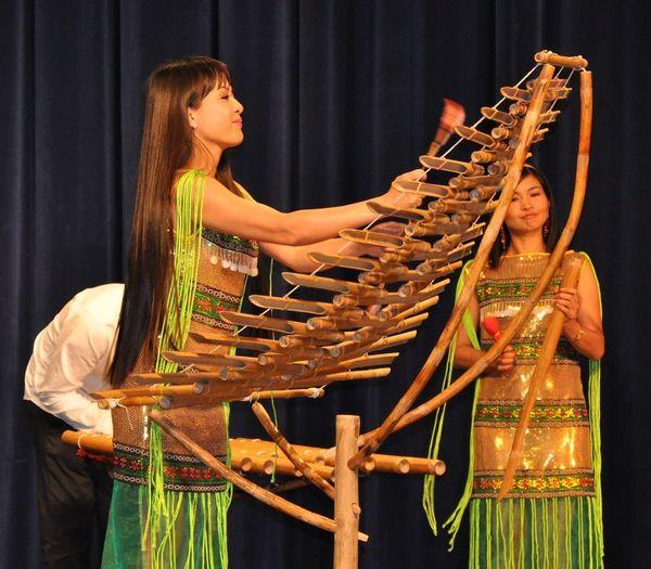 Dan trung, xylophone en bambou