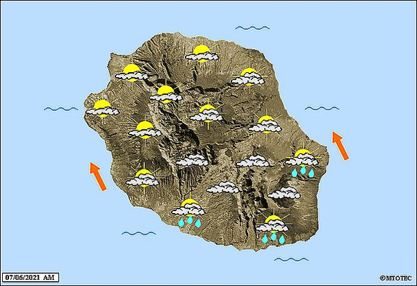 Carte météo 7 juin 2021