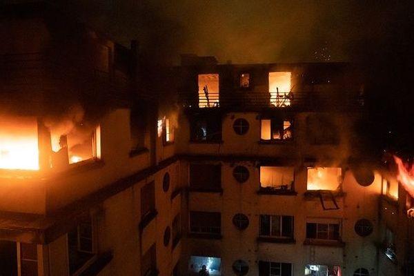 Incendie du 5 février 2019 à Paris.