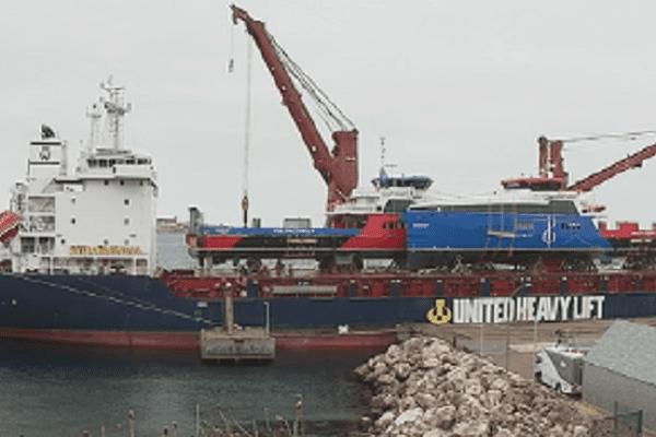 Le Suroît et le Nordet à bord de l'Atlantic Winter
