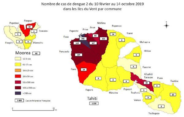 Epidémie de dengue Tahiti Moorea