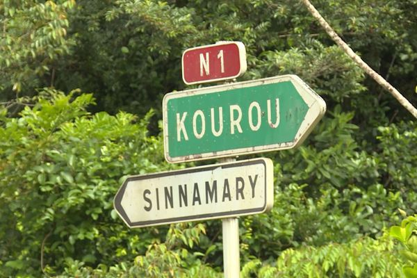 Fin de la zone blanche entre Kourou et Sinnamary