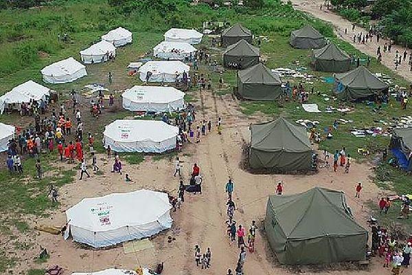Camp de réfugié au Mozambique mars 2019